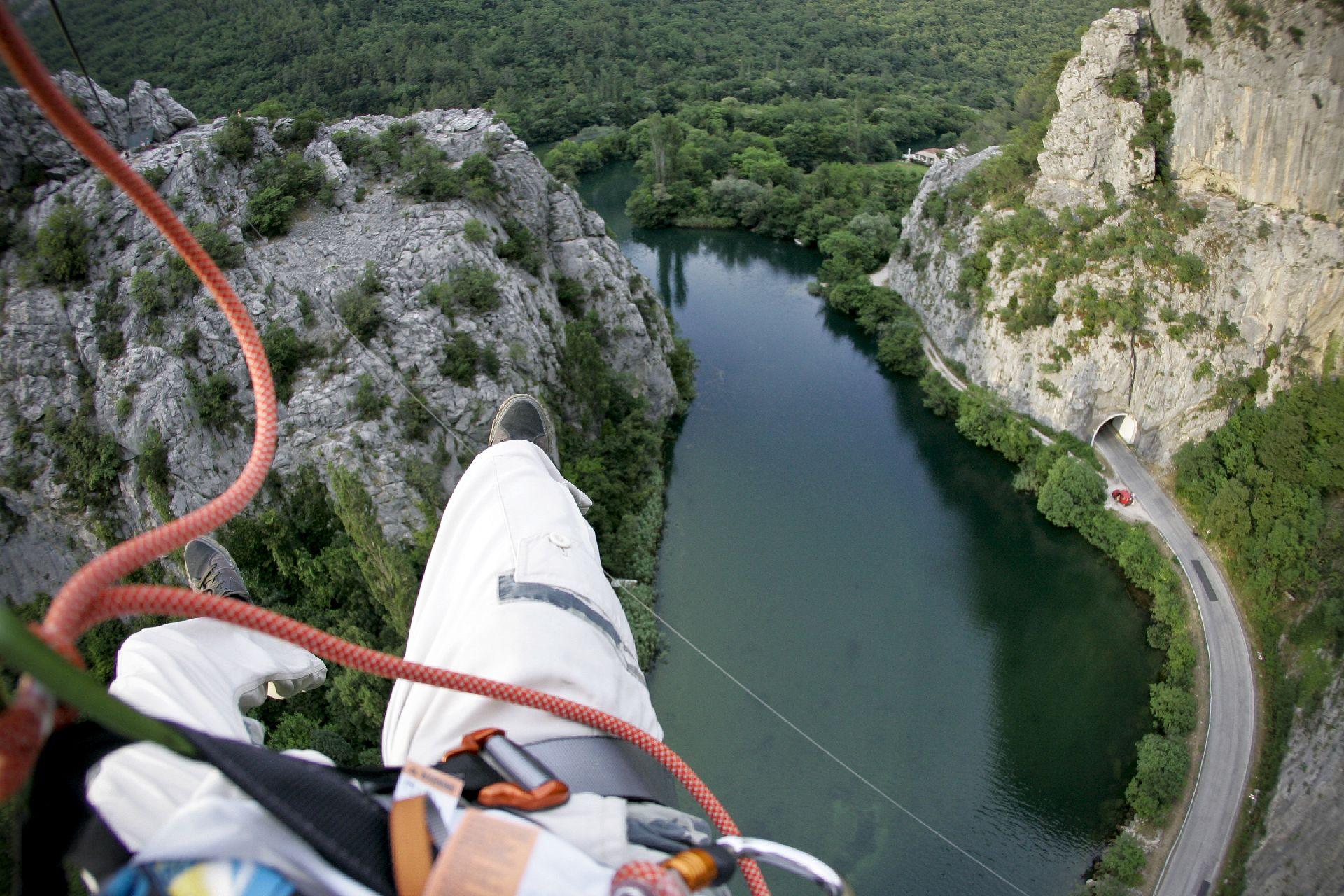 Split, 22.06.2013. - Adrenalinski park Zipline Omis